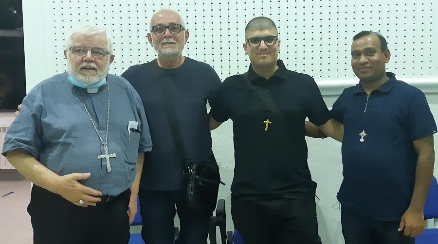 da-sinistra-il-vescovo-Giovanni-Roncari-don-Santino-Maisano-don-Giovanni-Russo-don-Paulraj-Maria-Kasparraj